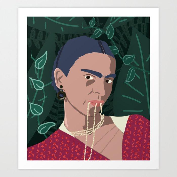 Frida, Mi Vida Art Print