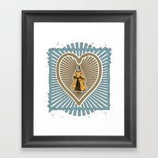 Queen of hearts not heads Framed Art Print