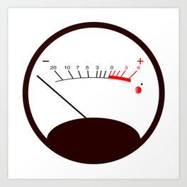 Round VU Meter No Signal Art Print