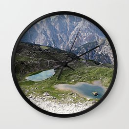 Alps Mountain Lakes Landscape Wall Clock