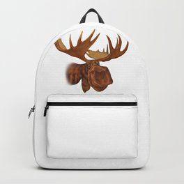 Moose Alaskan or Canadian Forest Animal Classic Design Backpack