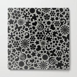 Sugar & Spice Monochrome Metal Print