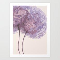 Geometric abstract purple flower Art Print
