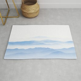 Foggy valley layers Rug