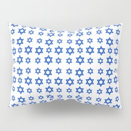 Star of David 12- Jerusalem -יְרוּשָׁלַיִם,israel,hebrew,judaism,jew,david,magen david Pillow Sham