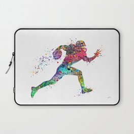 Football Player Sports Art Print Watercolor Print American Football Laptop Sleeve