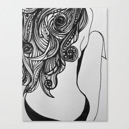 Back turned Canvas Print
