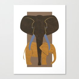 Elephant Mother and Child Canvas Print