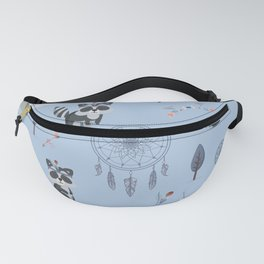 Boho Racoons Pattern Fanny Pack