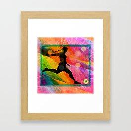 Candy soccer girl Framed Art Print
