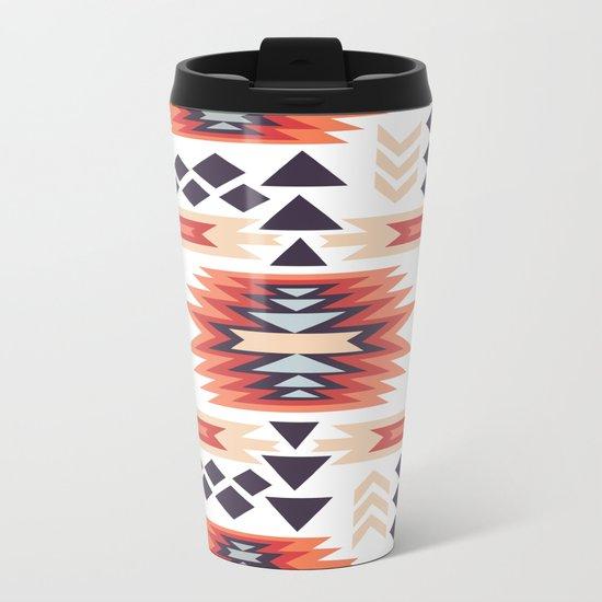 American Native Pattern No. 28 Metal Travel Mug