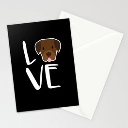 Labrador Retriever Dog Gift I Love My Chocolate Lab Gifts Stationery Cards