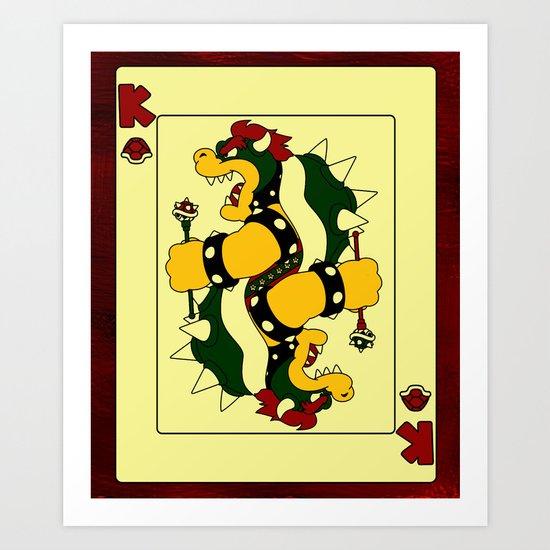 King of Koopas Art Print