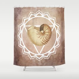 Shell Chakra Red Shower Curtain