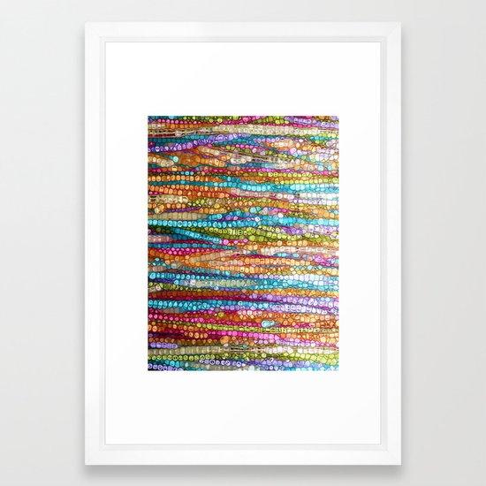 Rainbow Mosaic Framed Art Print By Jokevermeer Society6
