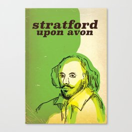 stratford upon avon Shakespeare vintage travel poster Canvas Print