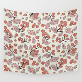 Berries pattern Wall Tapestry