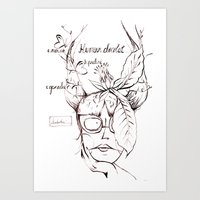 Art Print featuring Humeur chocolat... by Soloka