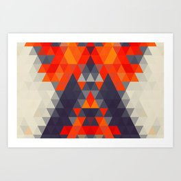Abstract Triangle Mountain Art Print