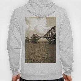Forth Bridge, Scotland, in Sepia Hoody