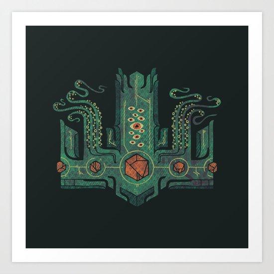 The Crown of Cthulhu Art Print