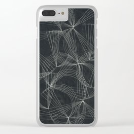 fractal graphic pattern Clear iPhone Case