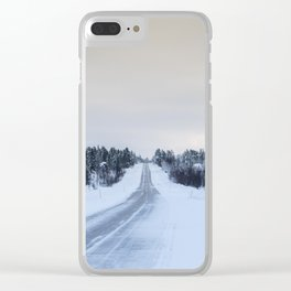 Icy Road in Finland Clear iPhone Case