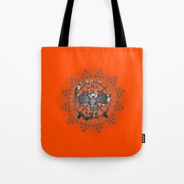 Skull and Crossbones Medallion Tote Bag
