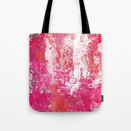 Roses Play Color On Ice Tote Bag
