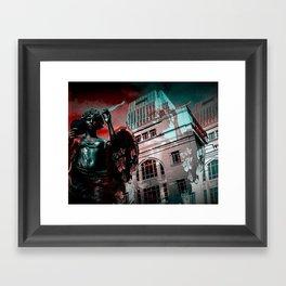 Statue (with holga effect) Framed Art Print