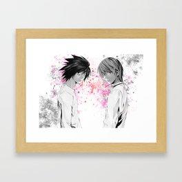 Death Note L Anime Manga Framed Art Print