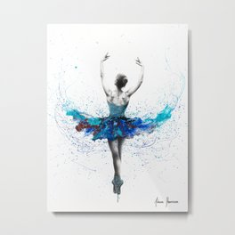 Floating Lake Ballet Metal Print