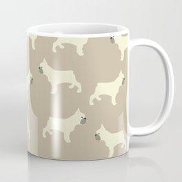 French Bull Dogs on Taupe Coffee Mug