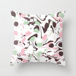 Stirred colors on white Throw Pillow