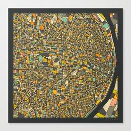 St. Louis Map Canvas Print