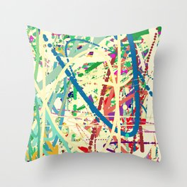 An Homage to Pollock Throw Pillow