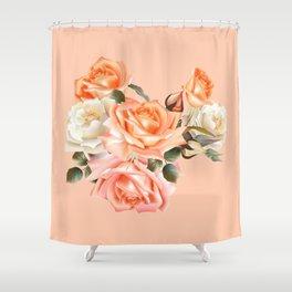 Modern Victorian Roses Shower Curtain