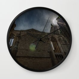 Foreshortening in the medieval town of Narbonne, southern France Wall Clock