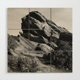 Vasquez Rocks Wood Wall Art