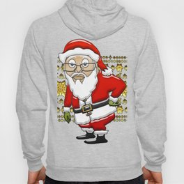MoCKiNg SaNta Gold Background Hoody