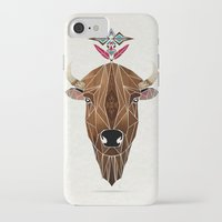 bison iPhone & iPod Cases featuring bison by Manoou