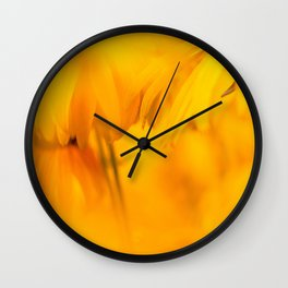 yellow blooms #society6 #decor #buyart Wall Clock