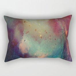 Galactic Watercolor Rectangular Pillow