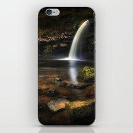 Sgwd Gwladus waterfall at Pontneddfechan iPhone Skin