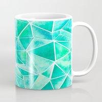 emerald Mugs featuring Emerald by Jamworth