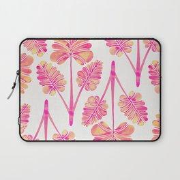 Tropical Palm Leaf Trifecta – Pink Palette Laptop Sleeve