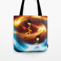 zuko Tote Bags featuring Firebenders by Haruhana Hibana