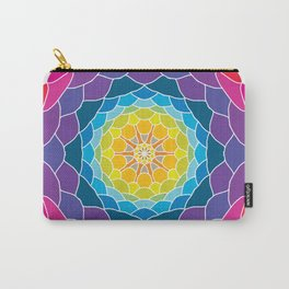 floral ornament. circular pattern Carry-All Pouch