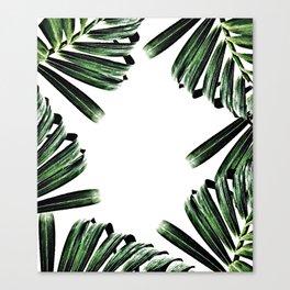 Palm Leaf Watercolor Pattern #society6 #decor #buyart Canvas Print