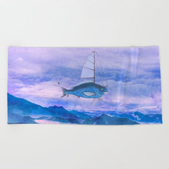I want to fly II Beach Towel